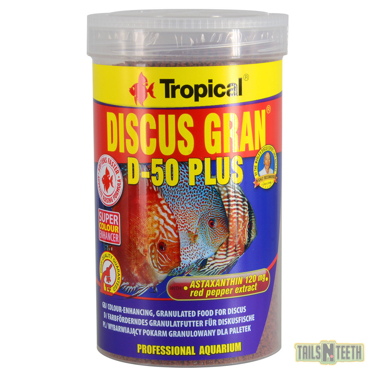 Color enhancing sinking granules discus food tailsnteeth for Discus fish food